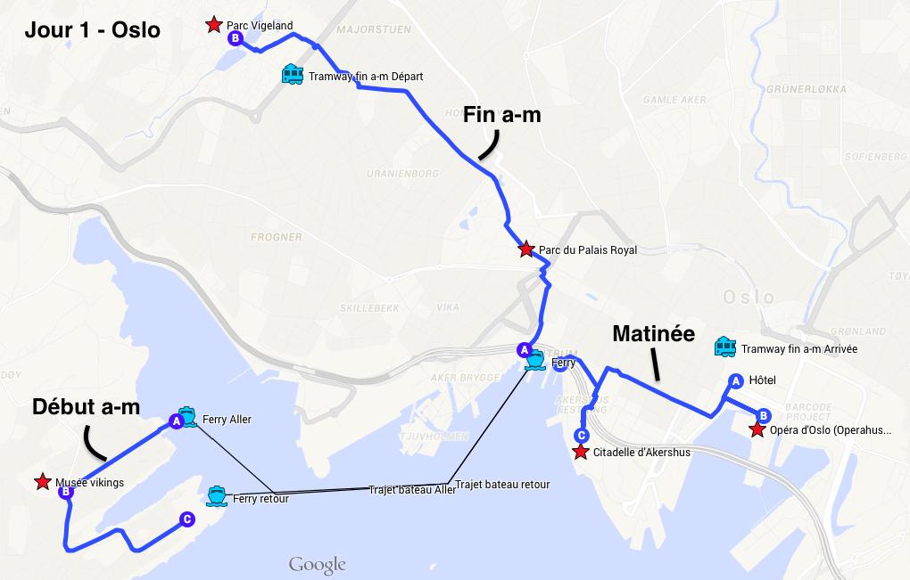 Itinéraire Oslo