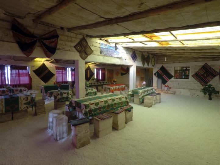Salle commune hôtel de sel