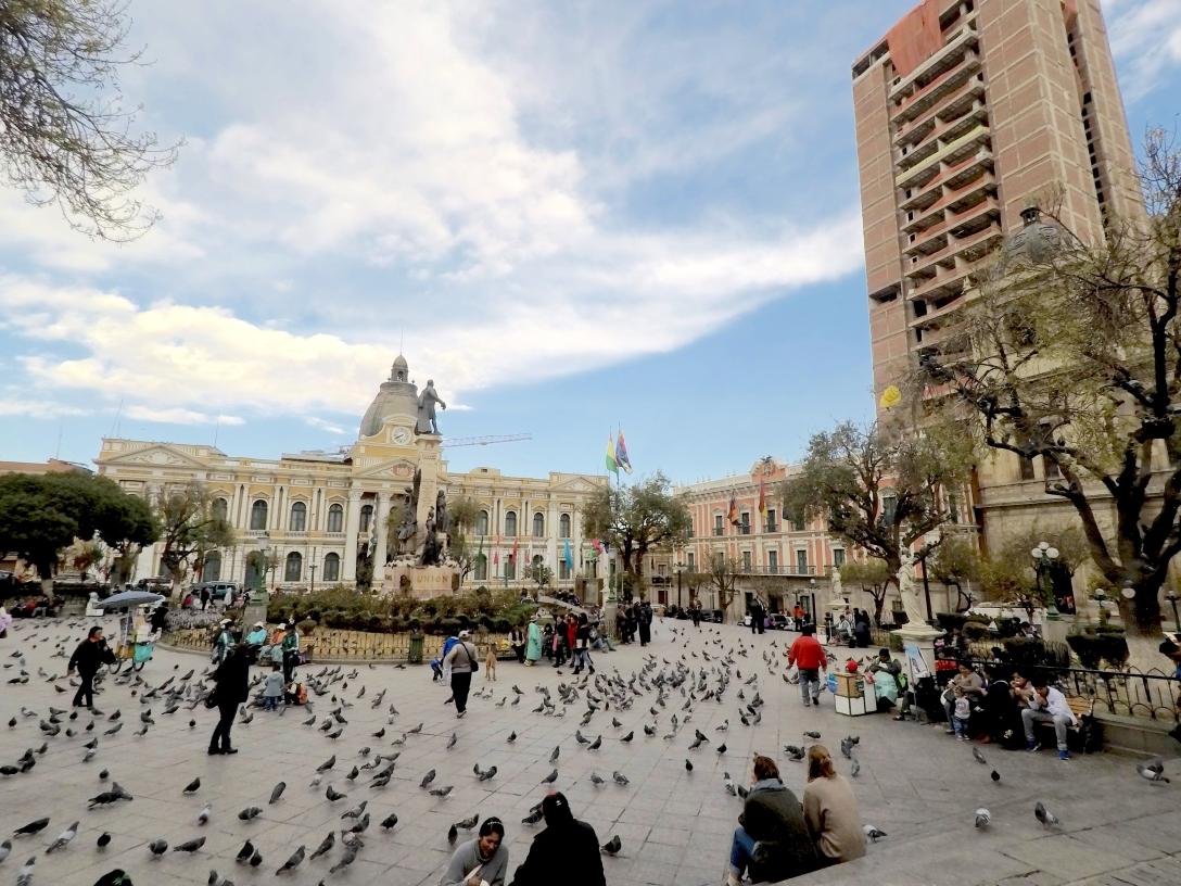 Cathédrale et palais présidentiel de La Paz