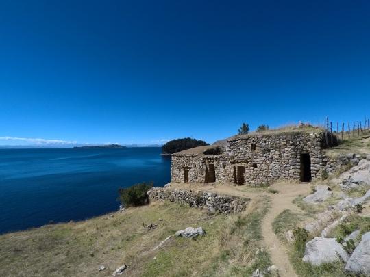 Les ruines au sud de l'Isla del Sol