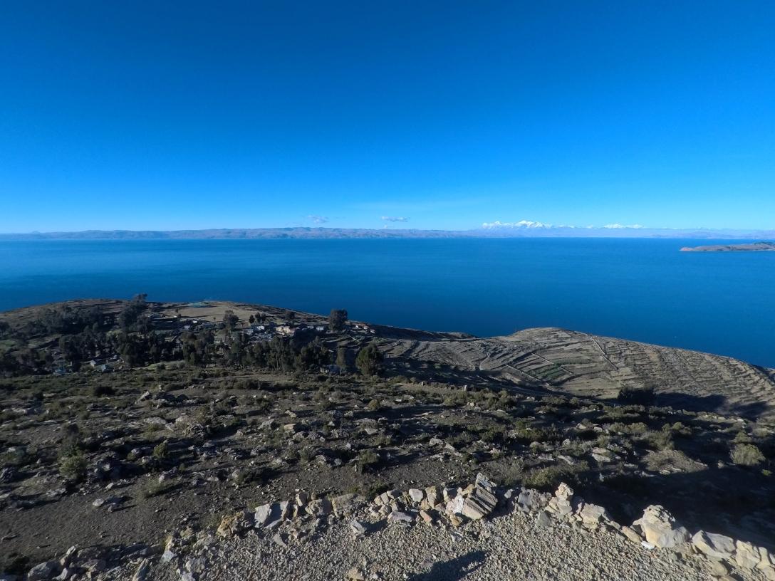 Vue depuis le Mirador du Sud de l'Isla del Sol