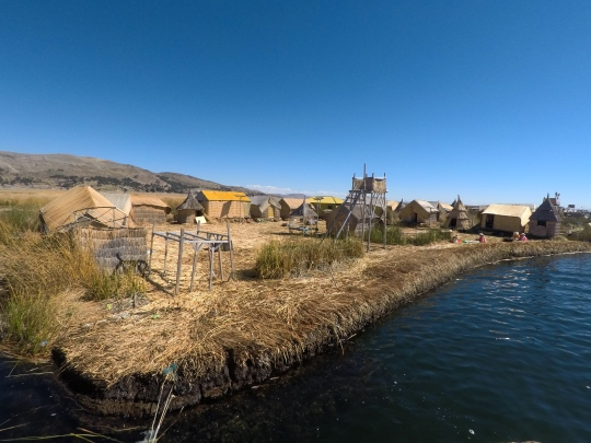 Une des îles flottantes d'Uros