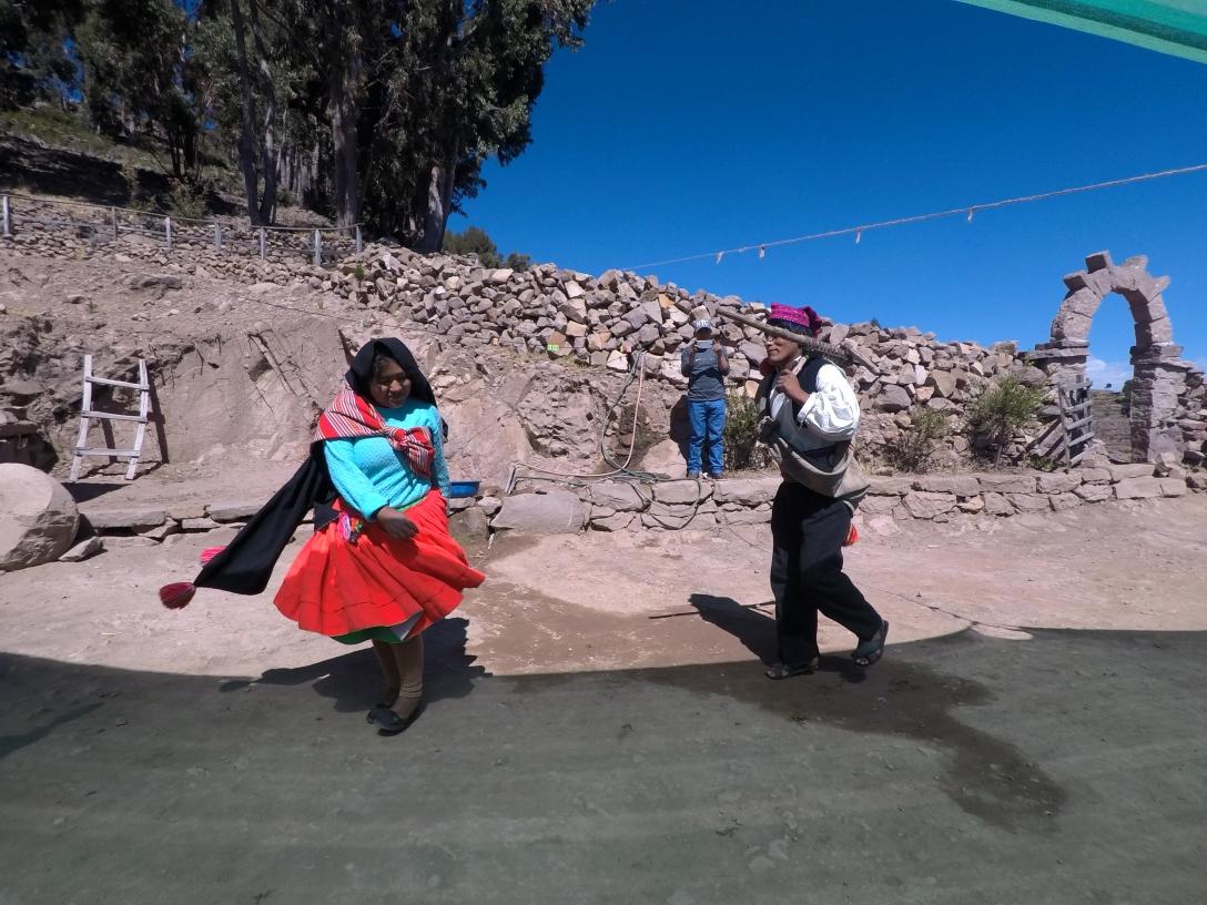 Démonstration de danse à Taquile