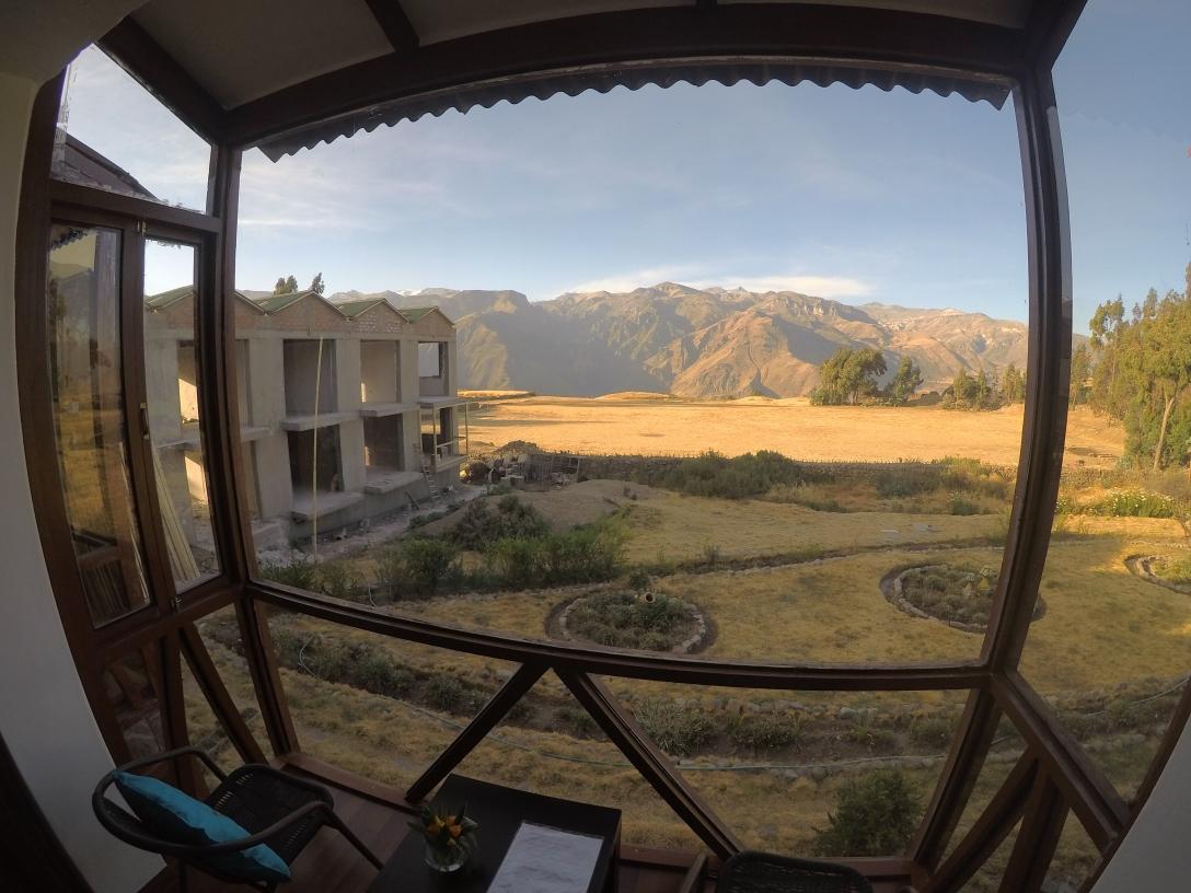 Vue depuis les chambres Colca Trek Lodge