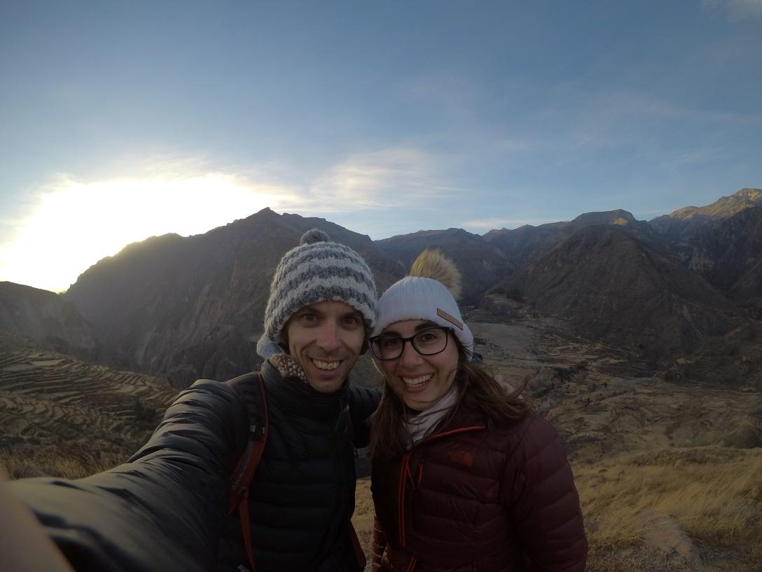 Coucher de soleil au Canyon del Colca