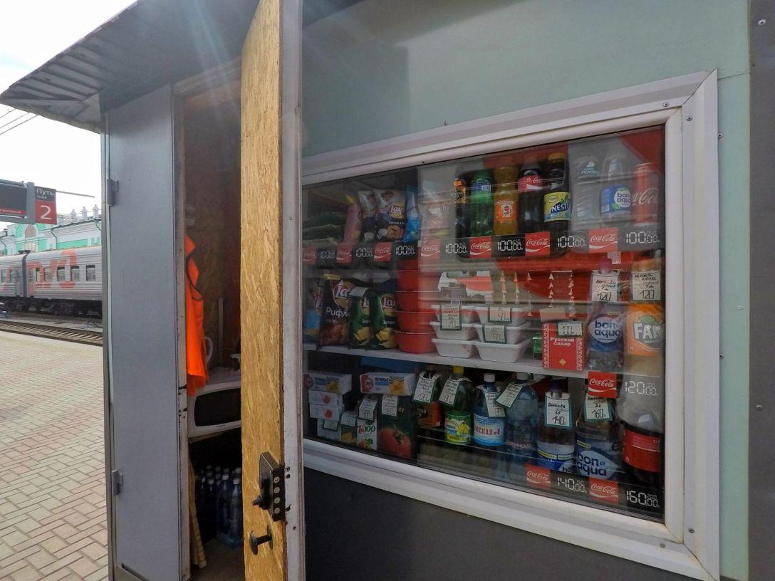 kiosques nourriture quai transsiberien