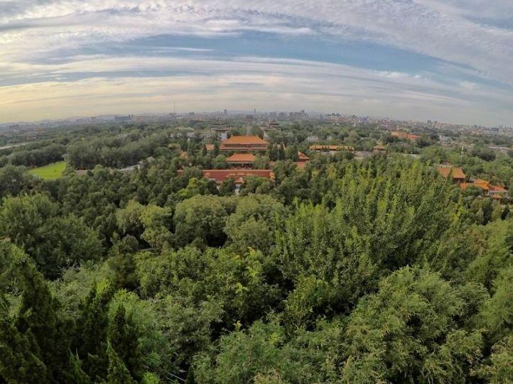 Belle vue d'en haut de la colline du parc Jingshan