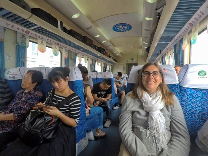 Dans un train K en Chine