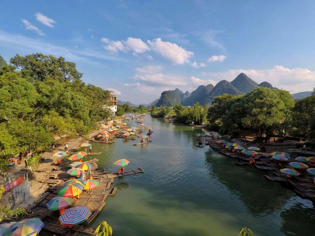 yulong_riviere_bambou_bateau