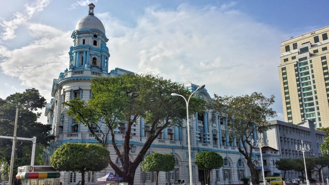 Dans le centre ville de Yangon