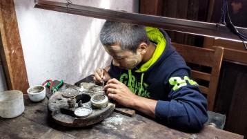 Atelier de production de bijoux en argent