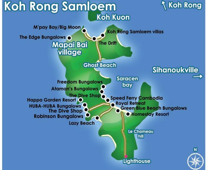 carte koh rong sanloem cambodge